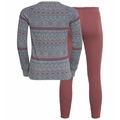 Set ACTIVE WARM X-MAS KIDS, grey melange - roan rouge, large