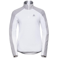 Women's ROYALE 1/2 Zip Midlayer, white - odlo concrete grey - stripes, large