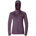 Hoody midlayer full zip PULSE, vintage violet, large