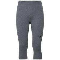 Men's PERFORMANCE WARM 3/4 Base Layer Pants, grey melange - black, large