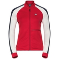 Midlayer full zip PAL, chinese red - snow white, large