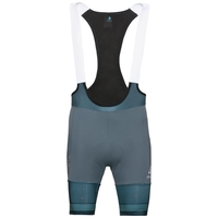 Men's ZEROWEIGHT CERAMICOOL PRO Cycling Bib Shorts, dark slate - white, large