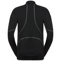 Men's ACTIVE X-WARM 1/2 Zip Turtle-Neck Long-Sleeve Base Layer Top, black, large