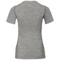 T-shirt ALLIANCE pour femme, grey melange - outdoor print FW18, large