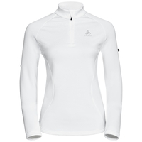 Pull couche intermédiaire 1/2 zip GLADE, white with print FW17, large