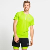 AXALP TRAIL-hardloop-T-shirt met halve rits voor heren, lounge lizard, large