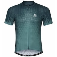Men's ELEMENT PRINT Short-Sleeve Cycling Jersey, dark slate - arctic, large
