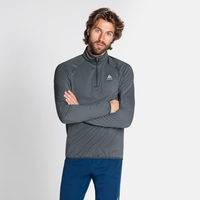 Midlayer con 1/2 zip CARVE LIGHT da uomo, odlo graphite grey, large