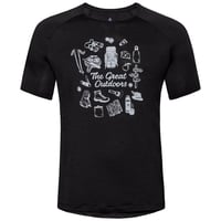 T-shirt CONCORD pour homme, black - great outdoors print SS19, large