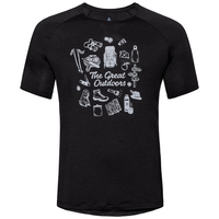 Men's CONCORD T-Shirt, black - great outdoors print SS19, large