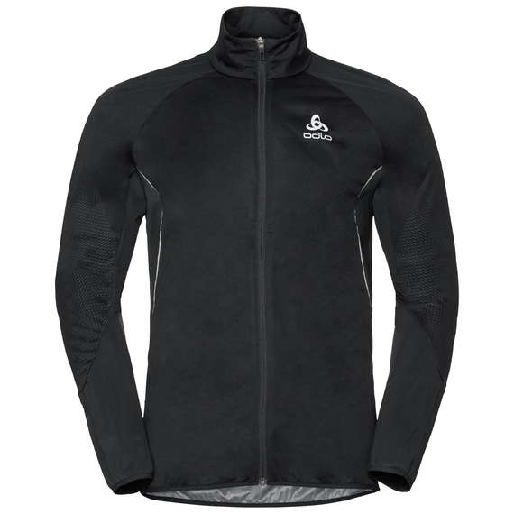 Jacket ZEROWEIGHT WINDPROOF REFLECT WARM, black - placed print FW18, large