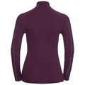 Stand-up collar l/s 1/2 zip SILLIAN, pickled beet, large