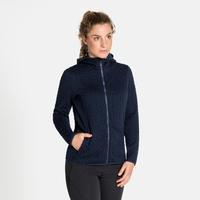 Pull technique à capuche et zip intégral CORVIGLIA KINSHIP pour femme, diving navy, large