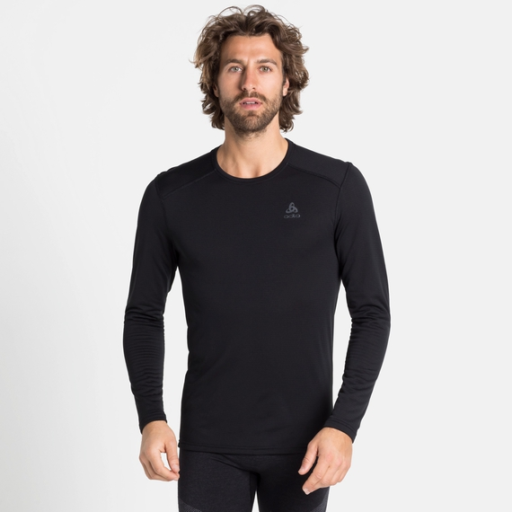 Men's ACTIVE THERMIC Long-Sleeve Baselayer, black melange, large
