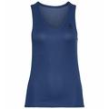 Women's ACTIVE F-DRY LIGHT V-Neck Base Layer Singlet, estate blue, large