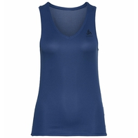 Women's ACTIVE F-DRY LIGHT V-Neck Base Layer Singlet, estate blue, large