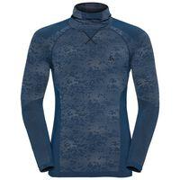 Shirt l/s with Facemask Blackcomb EVOLUTION WARM, blue opal - black - black, large