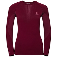 Women's PERFORMANCE WARM Long-Sleeve Base Layer Top, rumba red - mesa rose, large