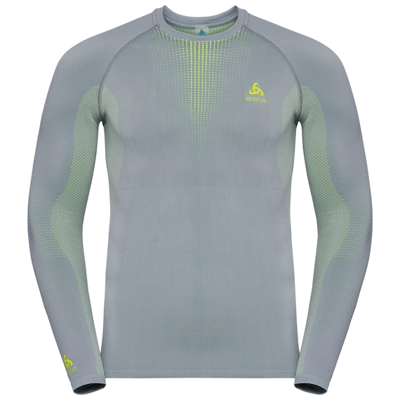 Men's PERFORMANCE WARM Long-Sleeve Base Layer Top, tradewinds - safety yellow (neon), large