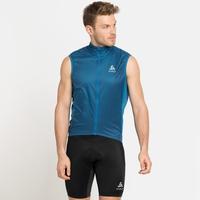 Gilet de cyclisme ZEROWEIGHT DUAL DRY pour homme, mykonos blue, large