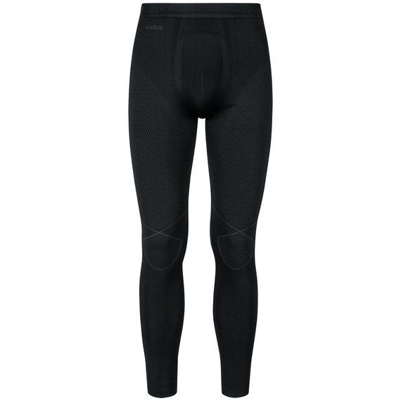 EVOLUTION WARM baselayer pants, black - odlo graphite grey, large