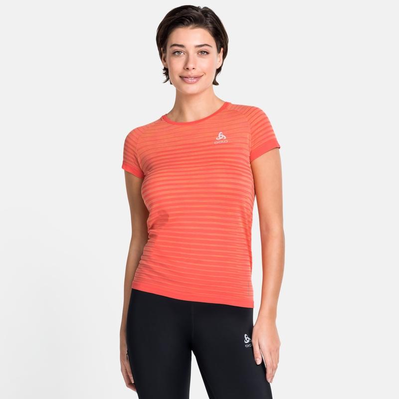 Damen BLACKCOMB PRO T-Shirt, hot coral - space dye, large