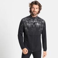 Men's ZEROWEIGHT PRO WARM REFLECT Running Jacket, black - reflective graphic FW20, large