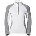 Midlayer 1/2 zip PACT, white - grey melange, large