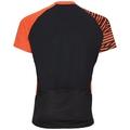 Shirt s/s 1/2 zip MORZINE, black - flame, large