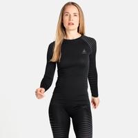 Damen PERFORMANCE LIGHT Baselayer Langarm-Shirt, black, large