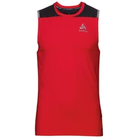 Camiseta térmica sin mangas cuello redondo ZEROWEIGHT Ceramicool, fiery red - black, large