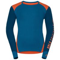 Revelstoke Warm baselayer shirt men, orangeade - mykonos blue - blue opal, large