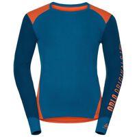 Revelstoke Warm baselayer shirt men, orangeade - mykonos blue - blue opal, large
