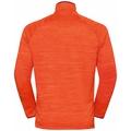 MILLENNIUM ELEMENT-tussenlaagtop met halve rits en lange mouwen voor heren, orange.com melange, large