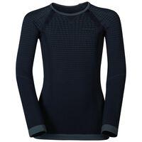 EVOLUTION WARM KIDS baselayer shirt, black - odlo graphite grey, large
