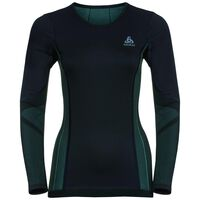 Shirt l/s crew neck PERFORMANCE Windshield XC-Skiing LIGHT, black - blue radiance, large