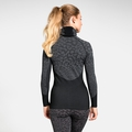 Women's BLACKCOMB Long-Sleeve Base Layer Top with Face Mask, black - odlo steel grey - silver, large