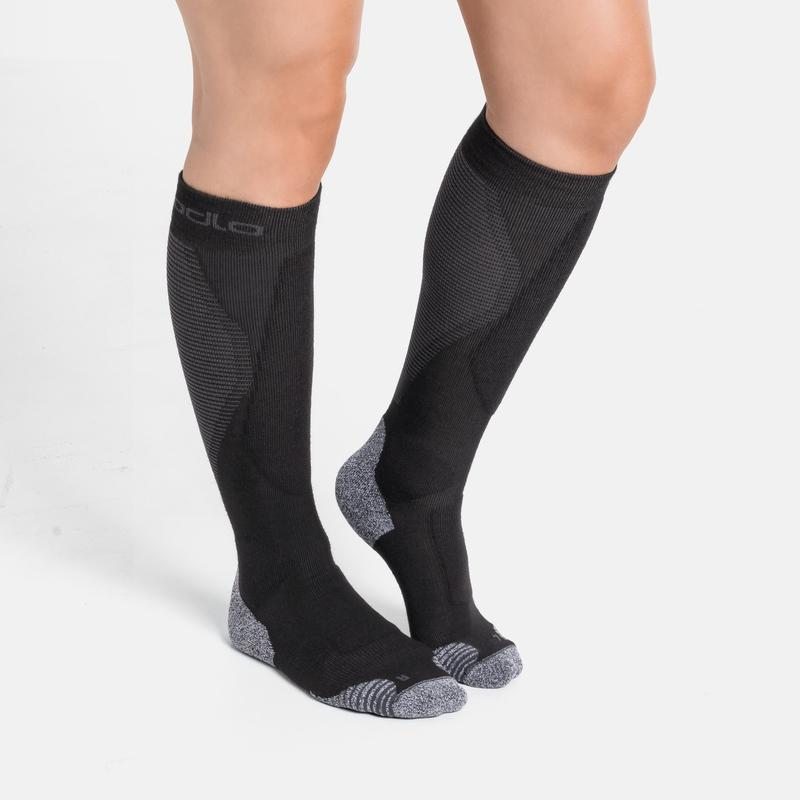 Unisex ACTIVE WARM PRO Skisocken, black - odlo graphite grey, large