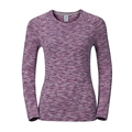 T-shirt l/s SILLIAN, zinfandel melange, large