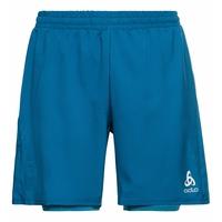Short 2-en-1 RUN EASY 18 CM pour homme, mykonos blue - horizon blue melange, large