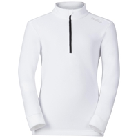 Midlayer 1/2 zip LE TOUR KIDS, white, large