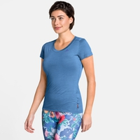 Women's NATURAL + LIGHT Short-Sleeve Base Layer Top, marina, large