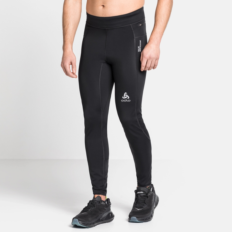 Men's ZEROWEIGHT DUAL DRY Running Tights, black, large