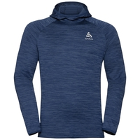 Men's MILLENNIUM ELEMENT Midlayer Hoody, estate blue melange, large