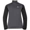 Midlayer con 1/2 zip PLANCHES da donna, odlo graphite grey - black, large