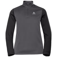 Women's PLANCHES 1/2 Zip Midlayer, odlo graphite grey - black, large