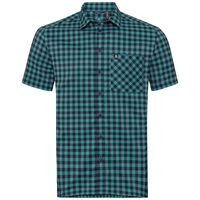 Shirt s/s NIKKO CHECK, diving navy - baltic - check, large