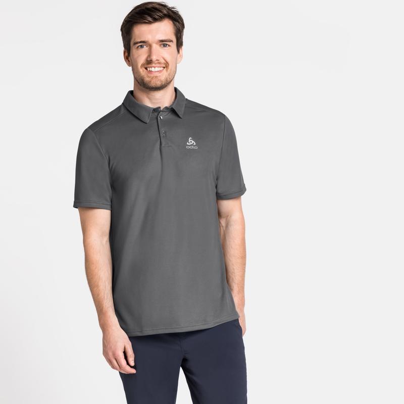 Men's F-DRY Polo Shirt, odlo steel grey, large