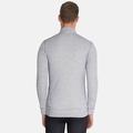 Men's ACTIVE WARM 1/2 Zip Turtle-Neck Long-Sleeve Base Layer Top, grey melange, large
