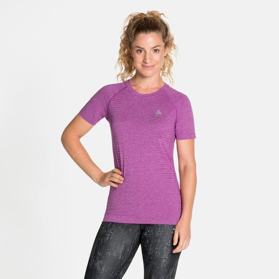 Women's SEAMLESS ELEMENT T-Shirt, hyacinth violet melange, large